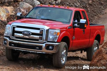 Insurance rates Ford F-250 in Tampa