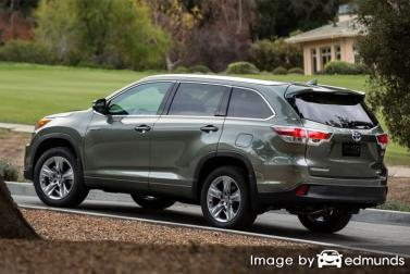 Insurance rates Toyota Highlander Hybrid in Tampa